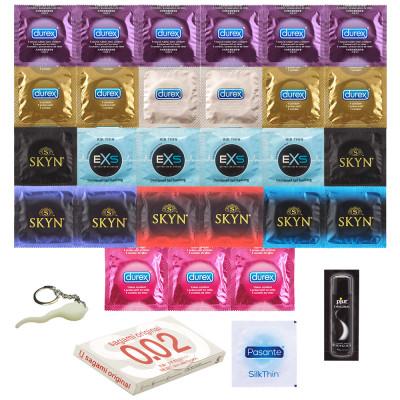 Balíček Toho Nej Co Existuje - 30ks nejlepších kondomů z našeho sortimentu + dárky