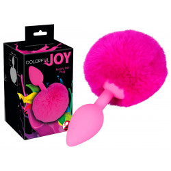 You2Toys Colorful Joy Bunny Tail Růžová