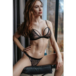 Petitenoir Set Out of Lace Bralette and Thong 060718