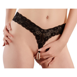 Cottelli G-string with Pearls 2321866 Black