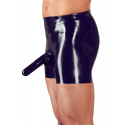 LateX Latex Pants with a Penis Sleeve and Anal Condom 2910438 Black
