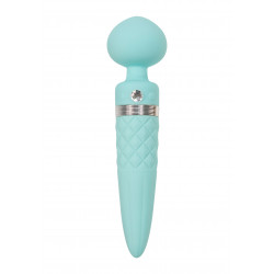 Pillow Talk Sultry Luxurious Dual-Ended Warming Massager Teal