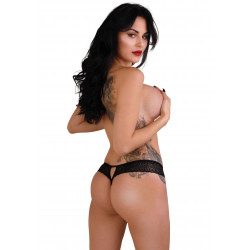 Daring Intimates Roxanne Crotchless String Black