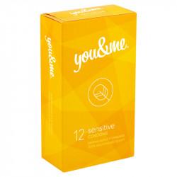 you&me Sensitive Condoms 12ks
