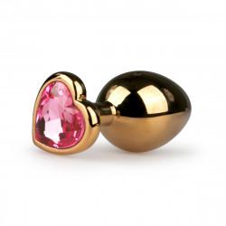 Easytoys Metal Butt Plug ET128PNK Gold-Pink