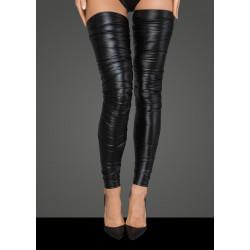 Noir Handmade F207 Powerwetlook Crinkled High Stockings