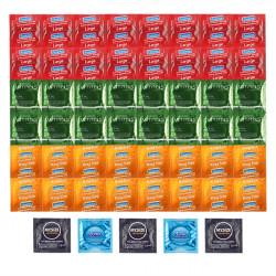 Luxusní balíček větších kondomů - 53 XL kondomů včetně poštovného