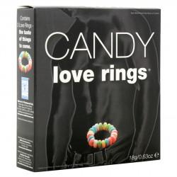Candy Love Rings - Sladký kroužek na penis 3ks