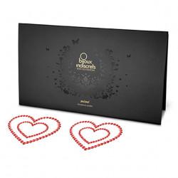 Bijoux Indiscrets Mimi Heart Red - ozdoby na bradavky