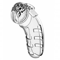 Shots ManCage Chastity Cock Cage 5.5 Inch Model 06 Transparent