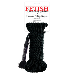 Fetish Fantasy Deluxe Silky Rope - Luxusní bondážní lano Černá