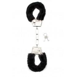 Shots Toys Furry Handcuffs Black