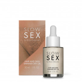 Bijoux Indiscrets Slow Sex Hair And Skin Shimmer Dry Oil 30ml