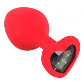 You2Toys Silicone Plug Heart Red Medium