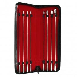 Kiotos Steel Rosebud Urethral Sounds - Sada ocelových dilatátorů 8ks