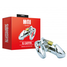 MOI Submission El Castito Chromed Male Chastity Device 50mm
