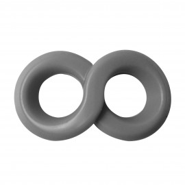 Dream Toys Lit-Up Rings Liquid Silicone Double Ring Grey