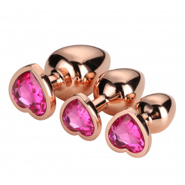 Dream Toys Gleaming Love Plug Rose Gold Set