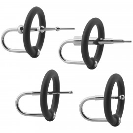 Doc Johnson Kink Ring & Plug Set Silicone & Stainless Steel Cock Accessories