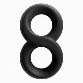 NS Novelties Renegade Infinity Ring Black
