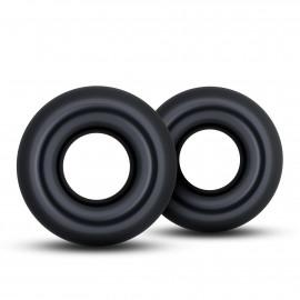 Blush Stay Hard Donut Rings Oversized Black