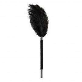 Blush Noir Soft Feather Tickler Black