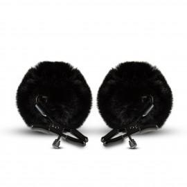 Blush Noir Pom Adjustable Nipple Clamps Black