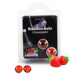 Secret Play Brazilian Balls Strawberry 2 pack
