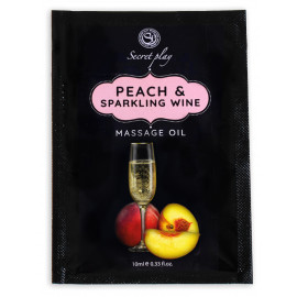 Secret Play Peach & Sparkling Wine Massage Oil Sachet 10ml