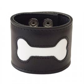 Mister B FETCH Bone Wristband Černá-Bílá