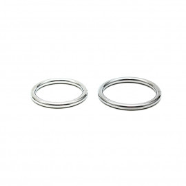 Rimba Welded Metal Cockring Set 7370 40 + 45mm