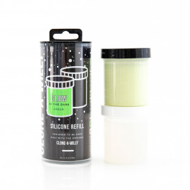 Clone A Willy Refill Glow in the Dark Green Silicone