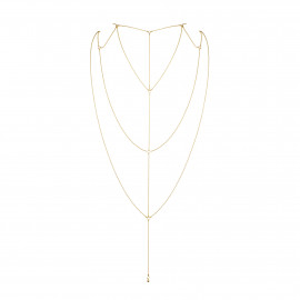 Bijoux Indiscrets Magnifique Back & Cleavage Chain 0266 Zlatá