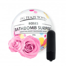 Big Teaze Toys Bath Bomb Surprise with Vibrating Body Massager Rose