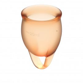 Satisfyer Feel Confident Menstrual Cup Orange