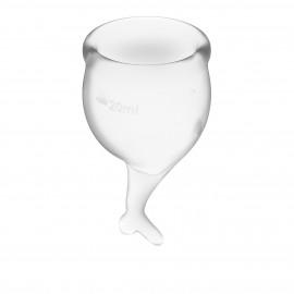 Satisfyer Feel Secure Menstrual Cup Transparent