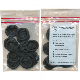 Condomerie Finger Condoms Black 24 pack