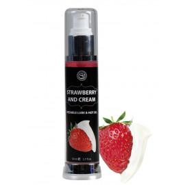 Secret Play Kissable Lube & Hot Oil Strawberry & Cream 50ml
