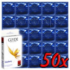 Glyde Blueberry - Premium Vegan Condoms 50 pack