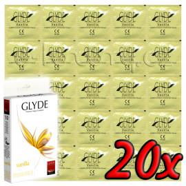 Glyde Vanilla - Premium Vegan Condoms 20 pack