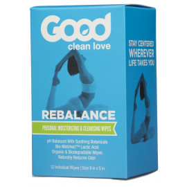 Good Clean Love Rebalance pH-Balanced Feminine Wipes 12 pack