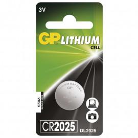 Baterie lithiová knoflíková GP CR2025 1ks