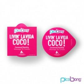 PicoBong Kokos & vanilka masážní svíčka 15 ml