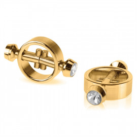 Fetish Fantasy Gold Magnetic Clamps - Magnetické svorky na bradavky zlaté barvy