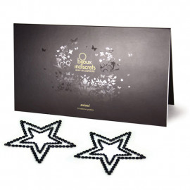 Bijoux Indiscrets Mimi Star Black - ozdoby na bradavky