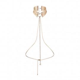 Bijoux Indiscrets Désir Métallique Collar - Kovový ozdobný obojek Zlatá