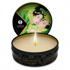 Shunga Libido Massage Candle Exotic Green Tea - masážní svíčka 30ml
