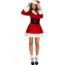 Fever Hooded Santa Costume 36988