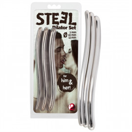 You2Toys Steel Dilators Set - Sada kovových uretrálních dilatátorů 3ks