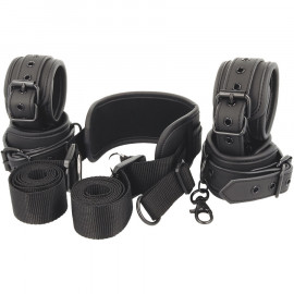 Fetish Submissive Neck, Handcuffs & Anklecuffs Vegan Leather